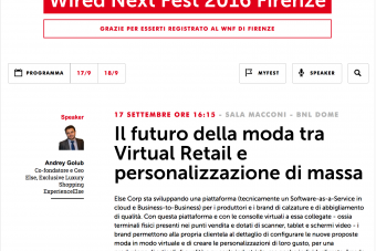 Wired Next Fest 2016 Firenze- ELSE CORP