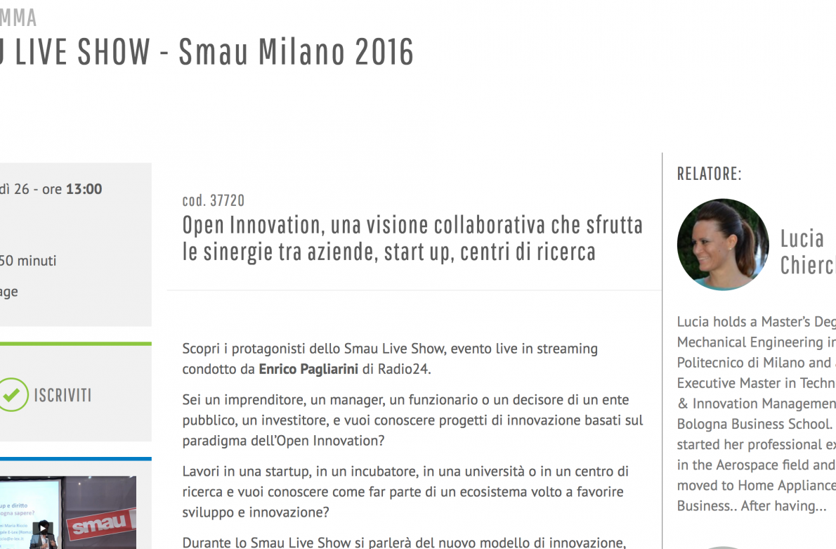 SMAU LIVE SHOW - Smau Milano 2016