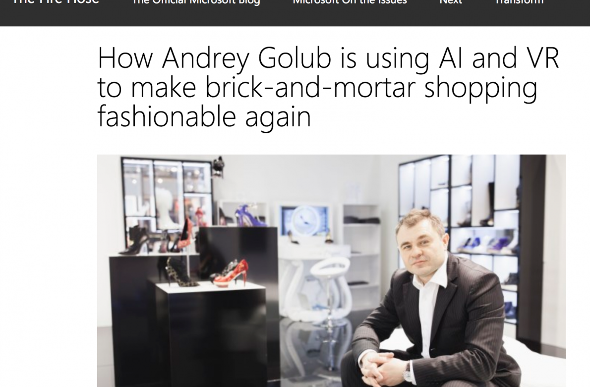 How Andrey Golub is using AI and VR to make brick-and-mortar shopping fashionable again