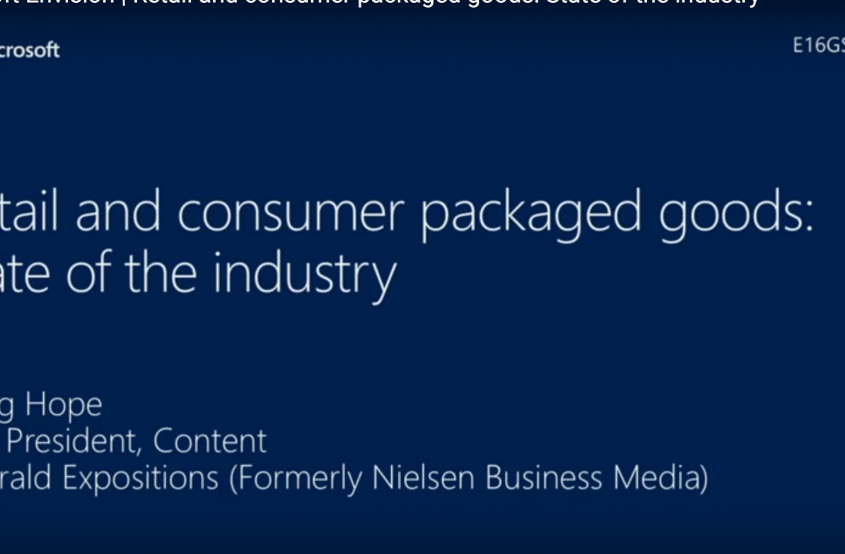 Retail and consumer packaged goods- State of the industry