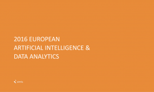 2016 EUROPEAN ARTIFICIAL INTELLIGENCE & DATA ANALYTICS