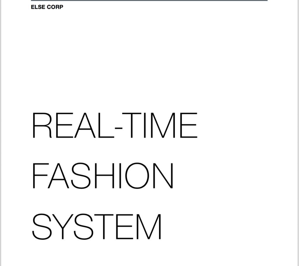 ELSE Corp Patent- Real-Time-Fashion-System