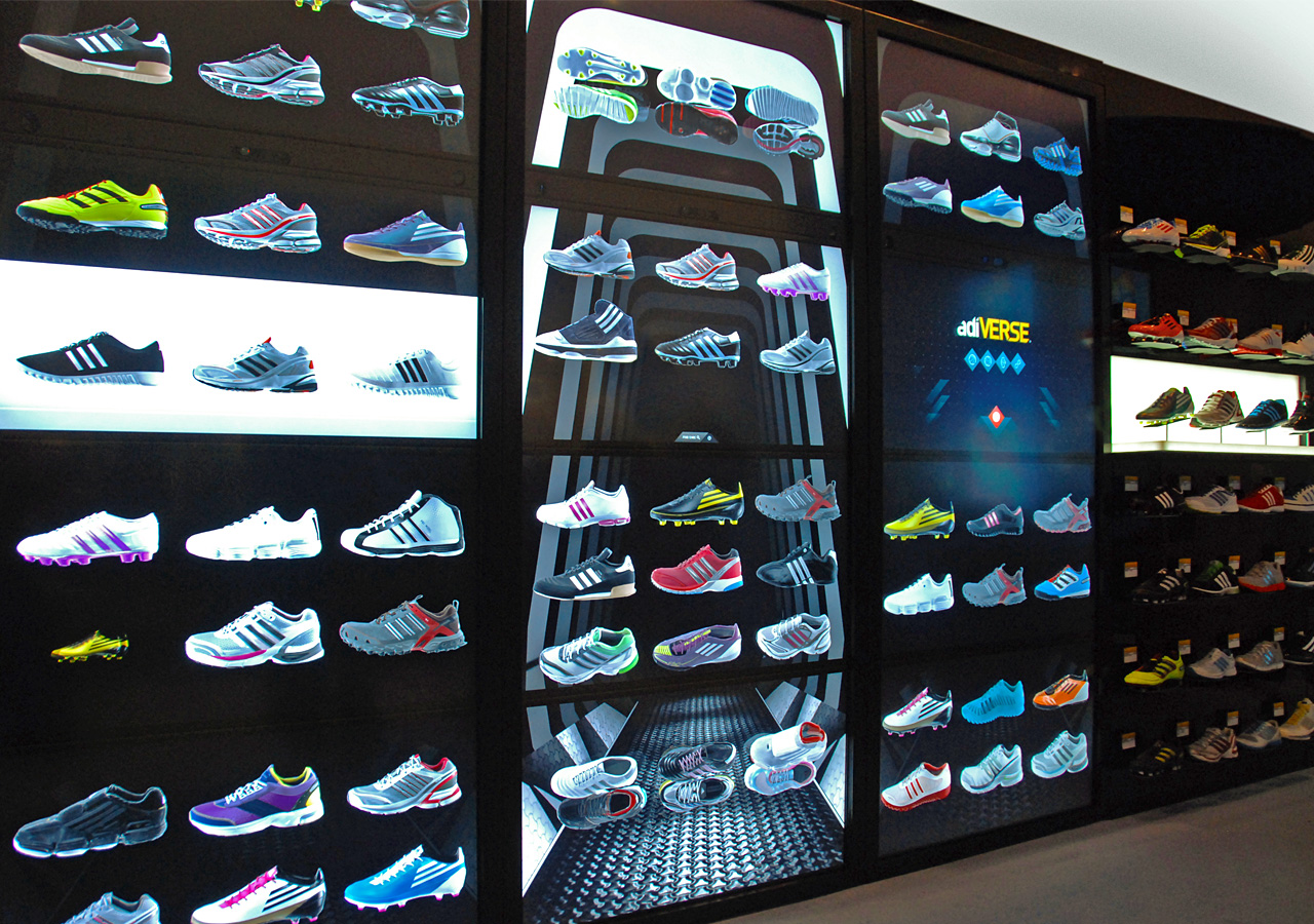 E marketer virtual in store shopping may become a big for Sneaker wall display