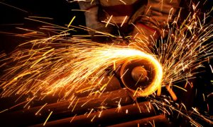 Steel plant scenery.Use Nrkon Digital camera,Lens:70-200mm,F/2.8.