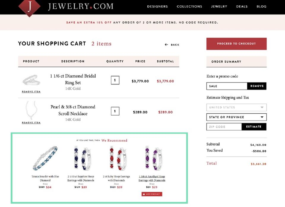 Jewelry-Cart-Recommendations