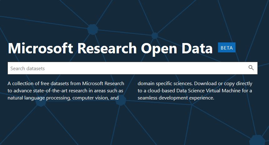 Microsoft Research Open Data